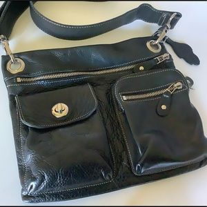 Roots village leather crossbody